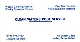 Clean Water Pool